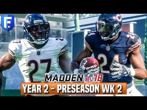 Year 3 Preseason Week 2 (LIVE)  - Madden 18 Bears Franchise