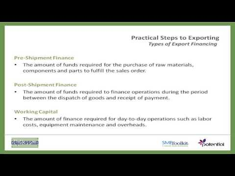 Types and Sources of Export Financing