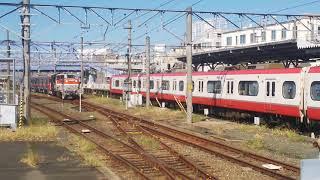 2019.10.15名鉄9500系9502F甲種輸送 臨9772レ DE10-1725号機(愛)牽引豊橋駅到着