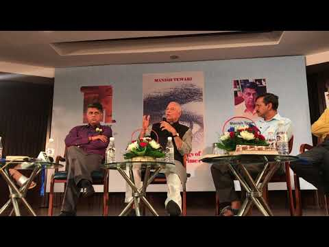 Talk between Yashwant Sinha, Arvind Kejriwal and Manish Tewari at book launch - Moderated by Barkha
