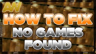 "How To Fix ""NO GAMES FOUND"" on Advanced Warfare [COD AW NO GAMES FOUND FIXED]"