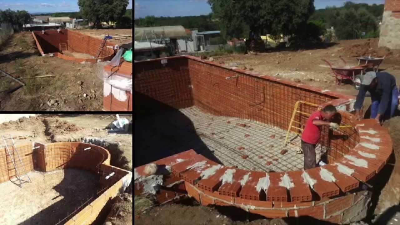 V deo construcci n de piscina piscinas cristayl youtube for Construccion de piscinas de obra elevadas