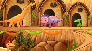 DinoTren en Español|Aprende con los Dinosaurios|Videos y Juegos Infantiles