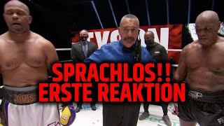 Sprachlos!! Mike Tyson vs Roy Jones Jr war heftig! Erste Reaktion