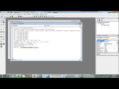 [VB6]- Bài toán lập trình trong Trắc Địa  - Tính Giao Hội Cạnh