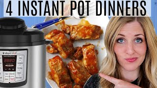 4 EASY Instant Pot Dinners - Dump and Go Recipes - Instant Pot Freezer Meals