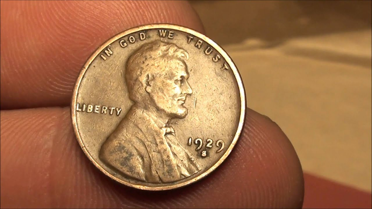 My Oldest Wheat Penny From Coin Roll Hunting 1929 S Wheat Cent Youtube