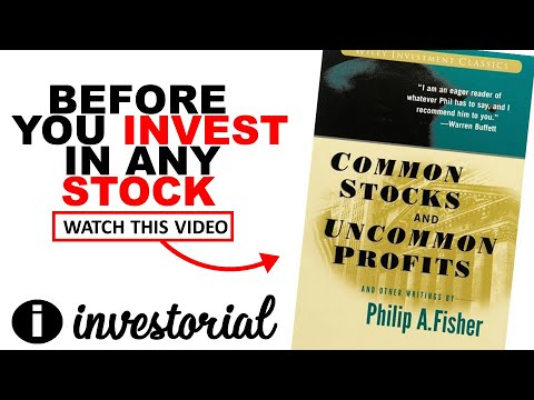 Common Stocks Uncommon Profits Book Summary (Book 3 Of 52 Weeks 52 Books)