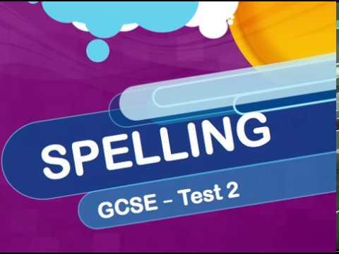 GCSE - Spelling - Test 2