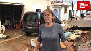Afectados por la tormenta: «La riada entró en el pueblo y tuvimos que salir corriendo»