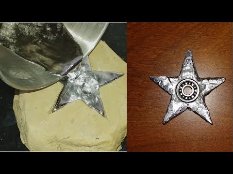 DIY Star (same Gallium) Fidget Spinner - Steel Ninja Star Fidget Spinner