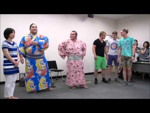 Sumo Wrestlers at JLC center in Todai 2014