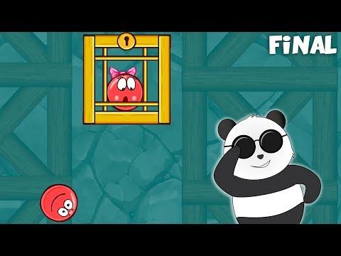 Sonunda Prensesi Kurtardı! Panda Kırmızı Top Oynuyor Son Bölüm! Red Ball 4