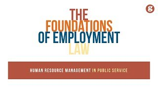 The Foundations of Employment Law
