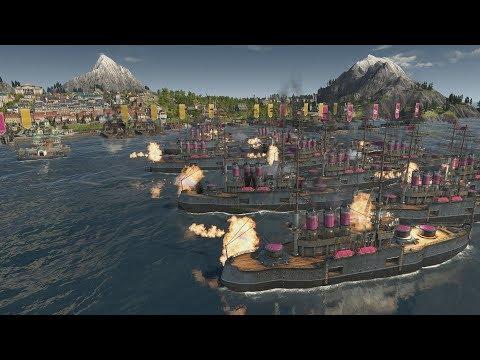 ANNO 1800  Real time port takeover battleships |