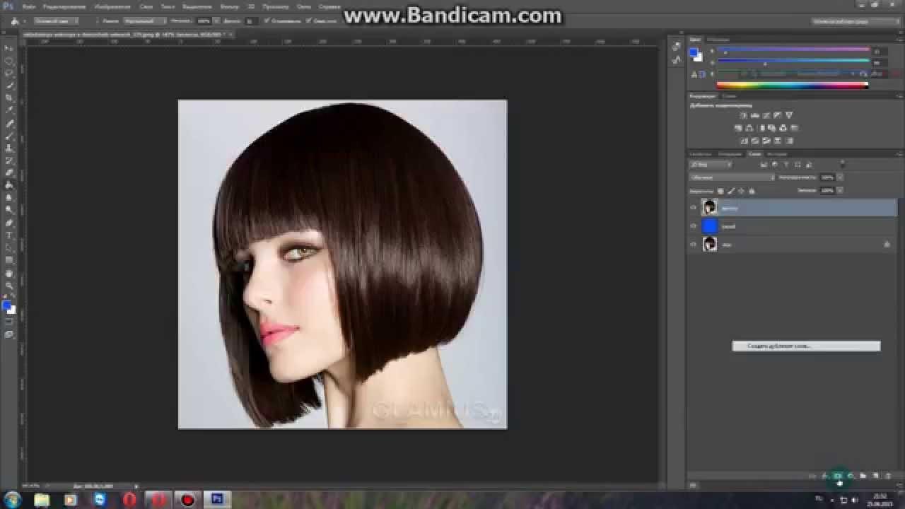 Как в фотошопе изменить цвет волос cs5