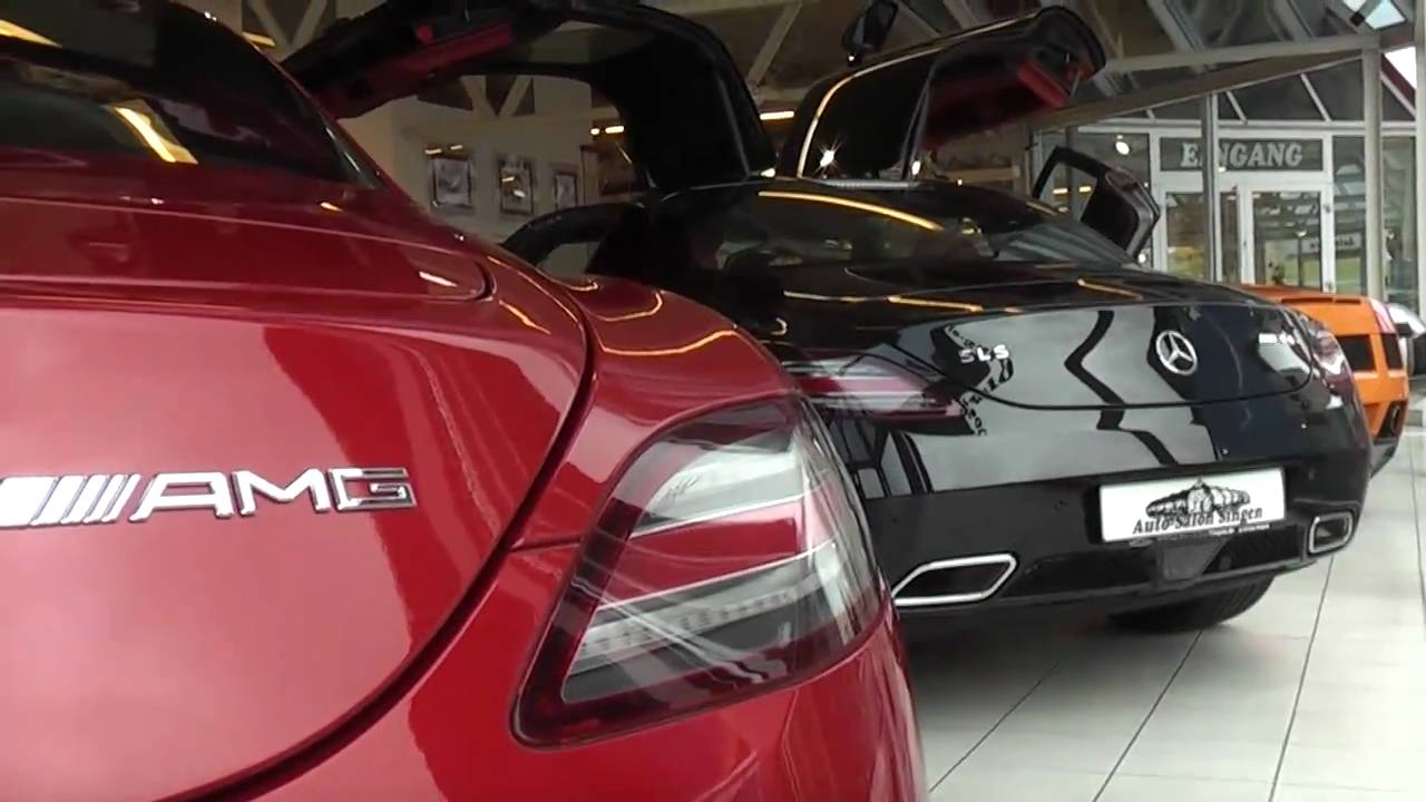 2 mercedes sls amg autosalon singen youtube. Black Bedroom Furniture Sets. Home Design Ideas