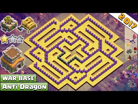 NEW!! Anti 2 Star Town Hall 8/Th8 Clan-War Base 2017 Vs Anti Dragon, Anti, Valkyrie - Clash Of Clans