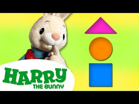 Learn All the Shapes for Kids | Singing the Shapes Song & More | Harry the Bunny Videos for Children