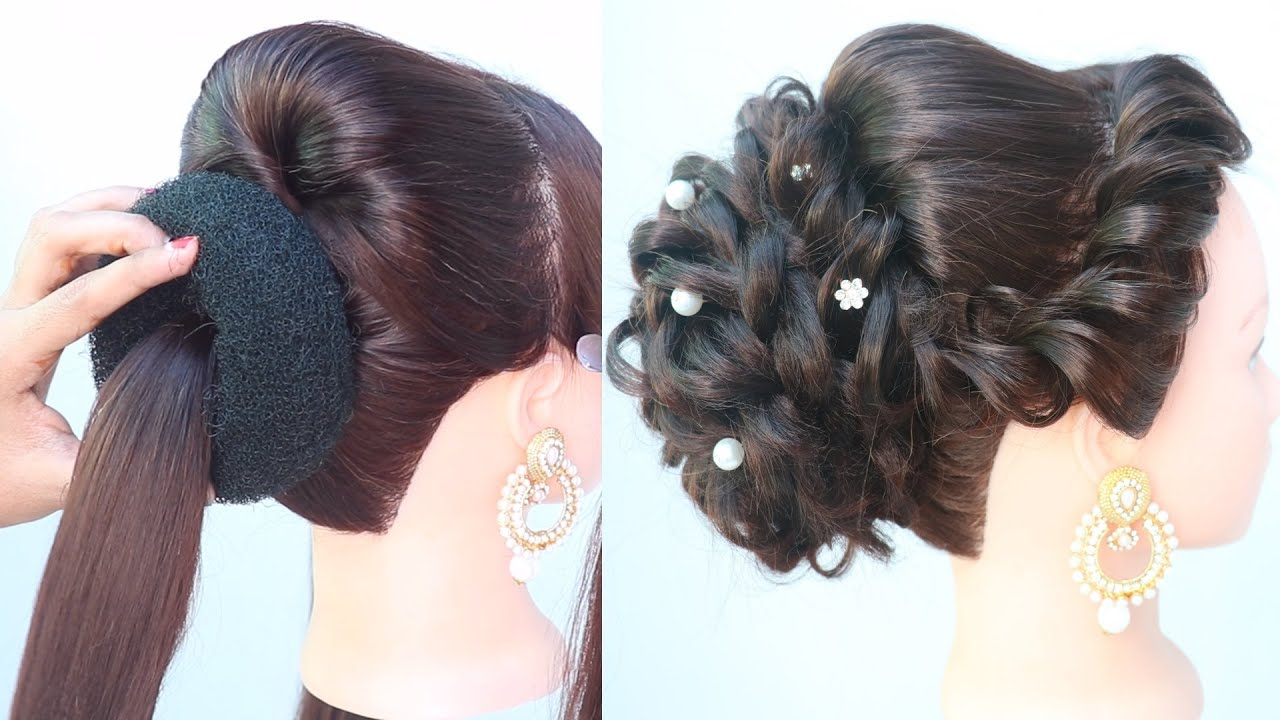 new hairstyle for medium hair | hair style girl | simple hairstyle | bridal hairstyle | hairstyle