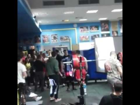 261kg squat (575lbs) Croatian powerlifting nationals