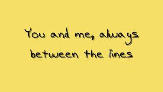 """Between the Lines"" - Sara Bareilles (lyrics)"