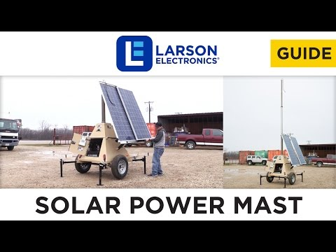 600 Watt Solar Power Generator with Light Tower Mast