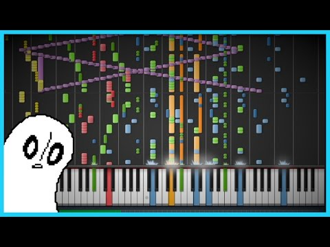 Synthesia: Ghost Fight UNDERTALE (+Spooktune) IMPOSSIBLE REMIX 12,000+ Notes