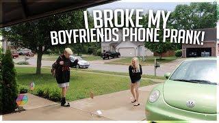 I BROKE MY BOYFRIENDS IPHONE PRANK (REVENGE)  FT. ZOE LAVERNE AND CODY ORLOVE!