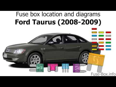 fuse box location and diagrams: ford taurus (2008-2009) - youtube  youtube