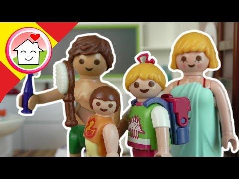 Playmobil en español La rutina de la mañana - La Familia Hauser