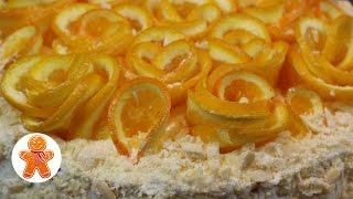 украшение Апельсиновые Розы  Школа Домашнего Кондитера