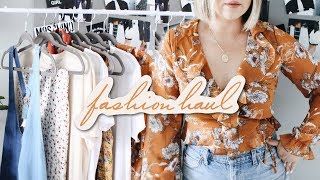 SPRING FASHION HAUL! 2018 (TRY ON) FOREVER 21, H&M, NORDSTROM, & MORE!