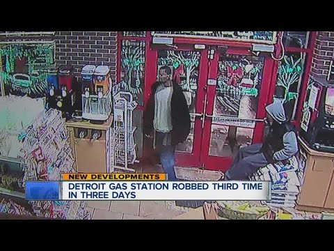 Detroit gas station robbed for third time in three days