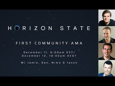 Horizon State Community AMA December 11 2017