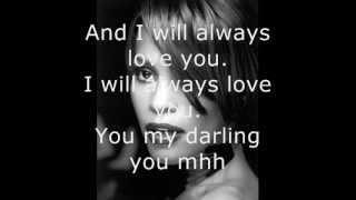 Whitney Houston   I Will Always Love You   Lyrics   YouTube