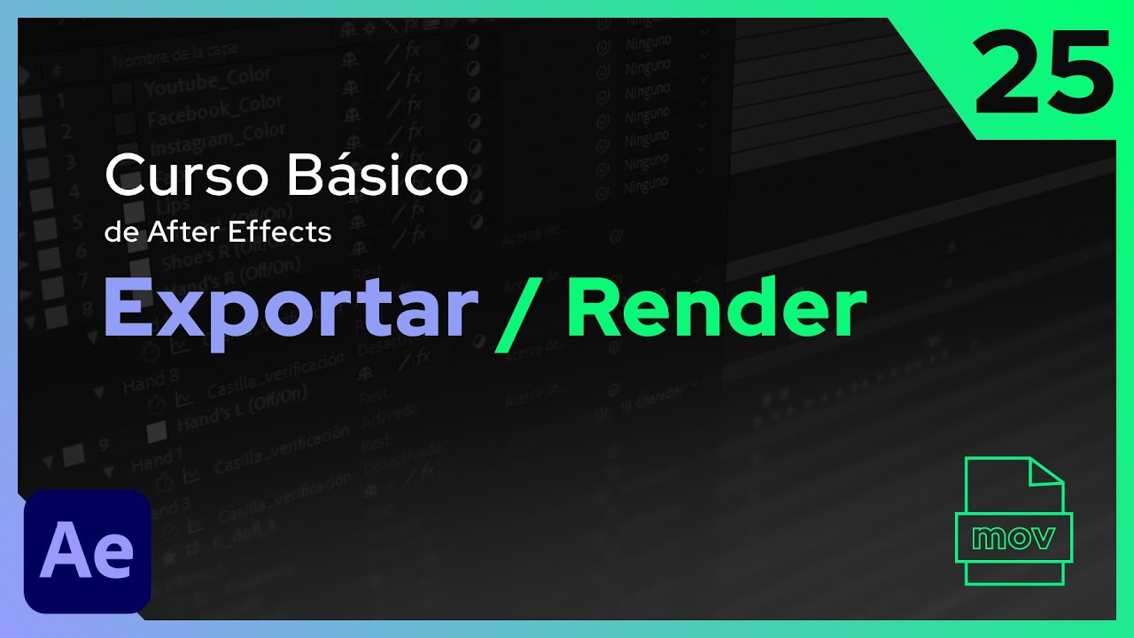 Exportación y Render  | After Effects - Tutorial