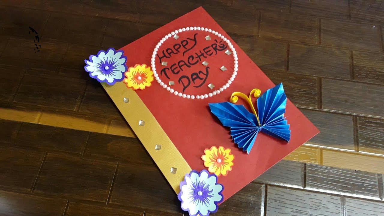 diy teacher's day card handmade  how to make christmas