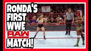ROWDY RONDA ROUSEY MAKES HER WWE RAW IN RING DEBUT reaction | August 6, 2018