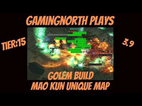 Path Of Exile - Mao Kun Unique Map. (Metamorph League 3.9) (Golem Build)