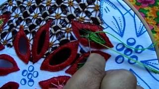 Bordando pétalas – parte 4