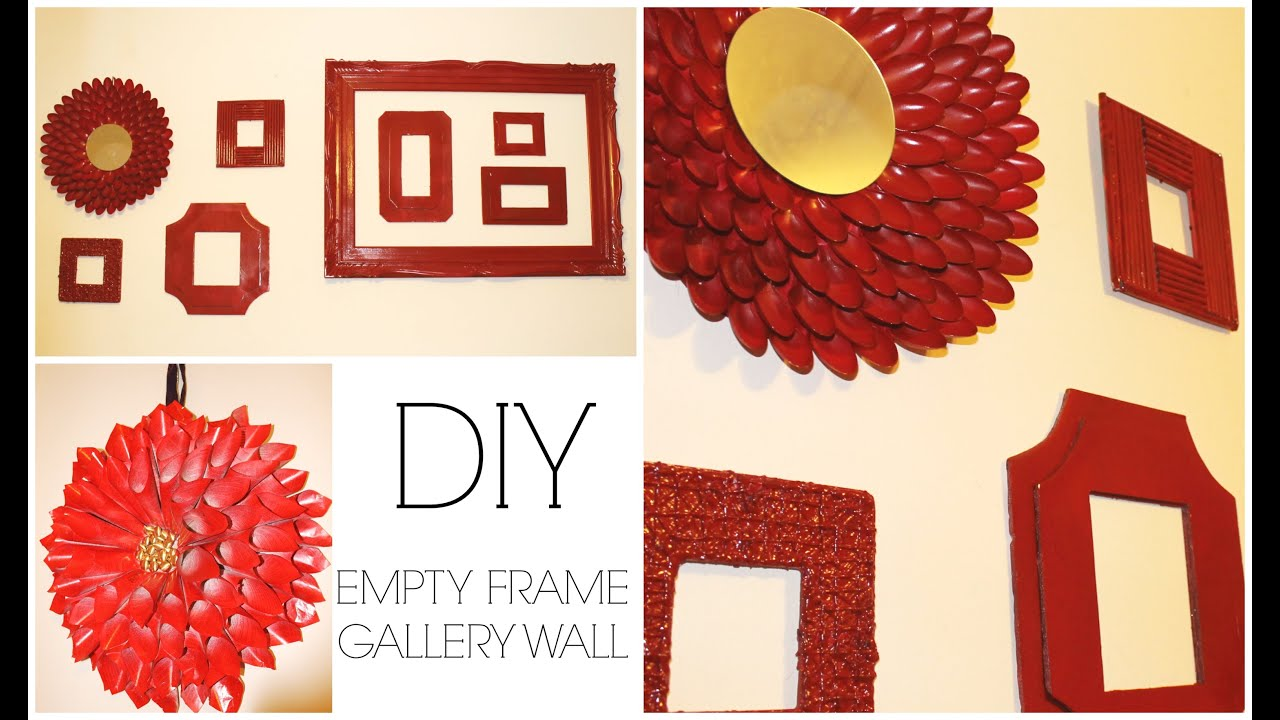 gallery wall with diy frames room decor jessica joaquin youtube