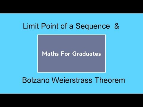 Limit Point of a Sequence & Bolzano–Weierstrass Theorem