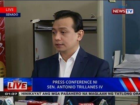 NTVL: Press conference ni Sen. Antonio Trillanes IV