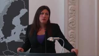 Zoe Konstantopoulou - Sommet du plan B à Copenhague 19.11.2016