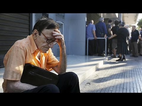 Greek banks remain closed, as pensioners queue up to withdraw payouts