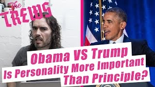 Obama Vs Trump - Is Personality More Important Than Principle? Russell Brand The Trews (E390)