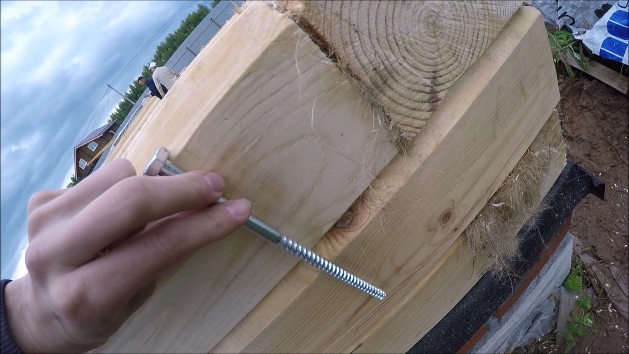 Нагели для сборки дома металл или дерево