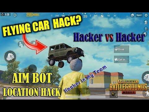PUBG Mobile Live stream   hacker vs hacker   ESP aim bot flying car high jump