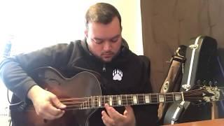 Nick Dauphinais on a Sorensen Big Dog Octave mandolin